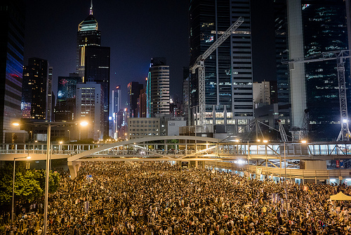 Hong Kong's Umbrella Revolution #umbrellarevolution #umbrellamovement #a7s #sony #occupyhk