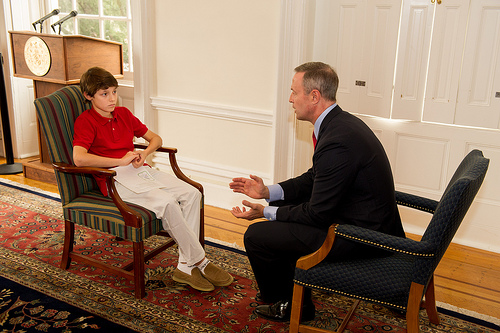 Governor is Interviewed by Gus Prager