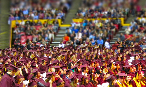 A sea of maroon and gold: ASU graduation 2010